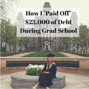 How I Paid Off $23,000 of Debt During Grad School