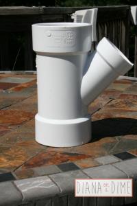 DIY PVC Pipe Before Spray Painting