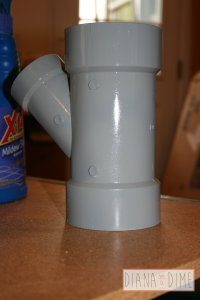 DIY Spray Paint Plastic PVC Pipe First Coat