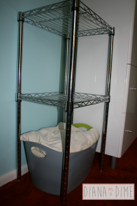 DIY Storage Container After Spray Paint