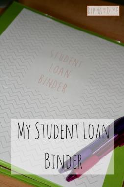 My Student Loan Binder