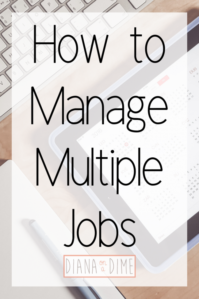How to Manage Multiple Jobs